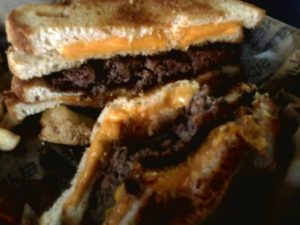 The Knockout Burger at Sidelines